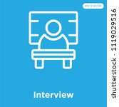 interview vector icon isolated... | Shutterstock .eps vector #1119029516