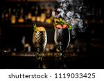 two glasses with fresh summer... | Shutterstock . vector #1119033425