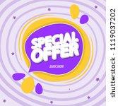 special offer  sale speech... | Shutterstock .eps vector #1119037202