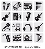 vector black musical... | Shutterstock .eps vector #111904082