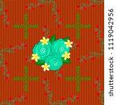 vector seamless floral pattern...   Shutterstock .eps vector #1119042956