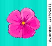 beautiful watercolor cosmos...   Shutterstock .eps vector #1119042986