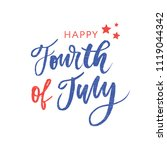 4th of july. happy independence ... | Shutterstock .eps vector #1119044342