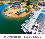 sacramento state aquatic center | Shutterstock . vector #1119053372