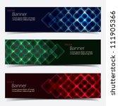 vector horizontal banner set | Shutterstock .eps vector #111905366