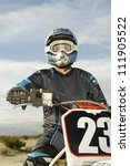 motocross racer in helmet