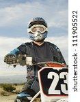 motocross racer in helmet
