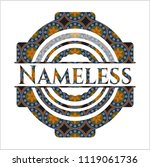 nameless arabic badge...   Shutterstock .eps vector #1119061736