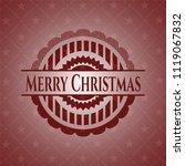 merry christmas retro red emblem | Shutterstock .eps vector #1119067832