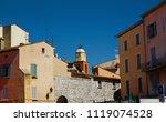 view of the st tropez clock... | Shutterstock . vector #1119074528