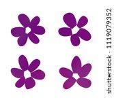 flowers in gradient mesh ...   Shutterstock .eps vector #1119079352