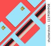 bank credit card mockup vector... | Shutterstock .eps vector #1119084908