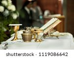 catholic eucharist  ornaments... | Shutterstock . vector #1119086642