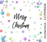 merry christmas illustration... | Shutterstock .eps vector #1119098636