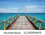 taken on a remote small island... | Shutterstock . vector #1119099695