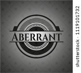 aberrant black badge | Shutterstock .eps vector #1119101732