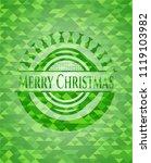 merry christmas realistic green ... | Shutterstock .eps vector #1119103982