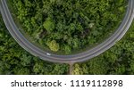 aerial view of forest road at... | Shutterstock . vector #1119112898