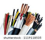 closeup of a electric cable on... | Shutterstock . vector #1119118535