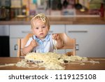 little baby boy  toddler child  ... | Shutterstock . vector #1119125108