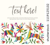 colorful mexican traditional...   Shutterstock .eps vector #1119125132