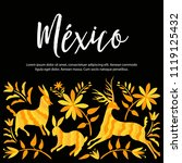 colorful mexican traditional...   Shutterstock .eps vector #1119125432