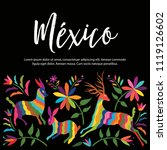 colorful mexican traditional...   Shutterstock .eps vector #1119126602