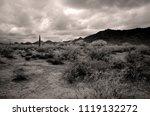 sonora desert and san tan... | Shutterstock . vector #1119132272