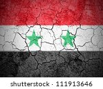 the syria flag painted on... | Shutterstock . vector #111913646