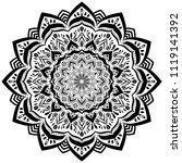 beautiful flower mandala  ...   Shutterstock .eps vector #1119141392
