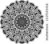 beautiful flower mandala  ...   Shutterstock .eps vector #1119141416