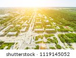 aerial city view with... | Shutterstock . vector #1119145052