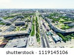 aerial city view with... | Shutterstock . vector #1119145106
