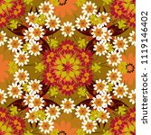 vector background with flowers. ...   Shutterstock .eps vector #1119146402