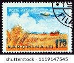romania   circa 1956  a stamp... | Shutterstock . vector #1119147545