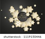 christmas background with white ... | Shutterstock .eps vector #1119150446