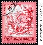 austria   circa 1983  a stamp... | Shutterstock . vector #1119152198