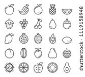 fruit pixel perfect icons ... | Shutterstock .eps vector #1119158948