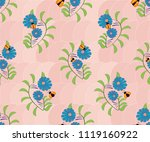 seamless pattern with ladybug...   Shutterstock .eps vector #1119160922