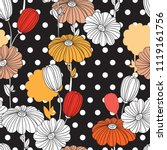 flowers. seamless pattern....   Shutterstock .eps vector #1119161756