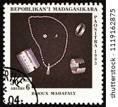 madagascar   circa 1994  a... | Shutterstock . vector #1119162875