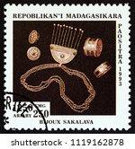 madagascar   circa 1994  a... | Shutterstock . vector #1119162878