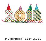 cute card on new year 2013 with ...   Shutterstock . vector #111916316