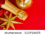 bottle of champagne and...   Shutterstock . vector #111916655