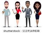 business people  set. african... | Shutterstock .eps vector #1119169838