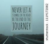 inspirational motivational... | Shutterstock . vector #1119172082