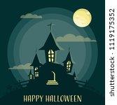 happy halloween background with ...   Shutterstock .eps vector #1119175352