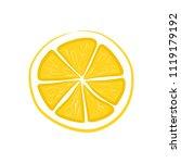 fruit slice lemon | Shutterstock . vector #1119179192
