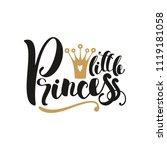 little princess. hand drawn... | Shutterstock .eps vector #1119181058