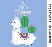 cute llama and alpaca... | Shutterstock .eps vector #1119185522